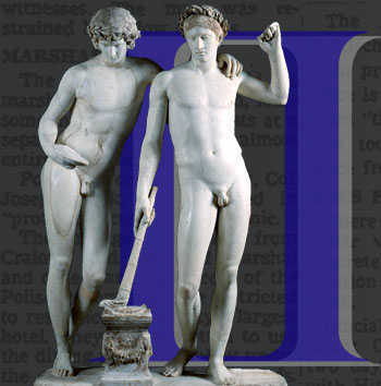 The Gemini symbol behind the twins Castor and Pollux.